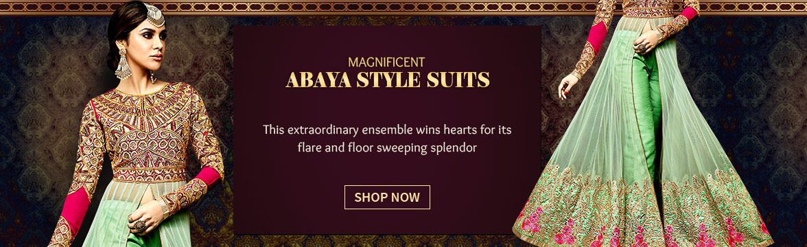 Abaya style Suits in breezy fabrics. Shop!
