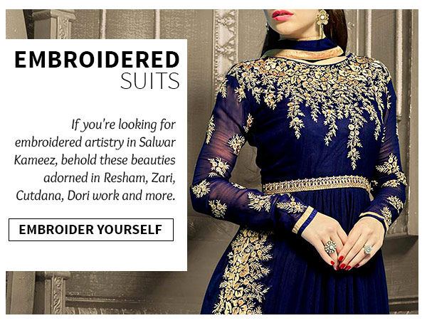 Shop Traditional embroidered design salwar suits