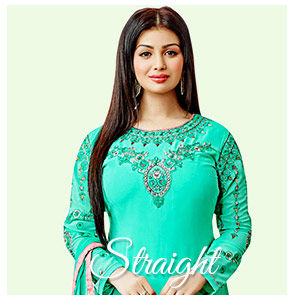 Look smart in straight style plus size salwar suits. Shop Now!
