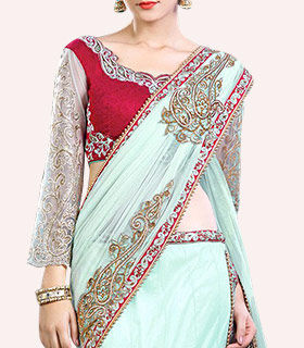 Shop Lehenga style sarees