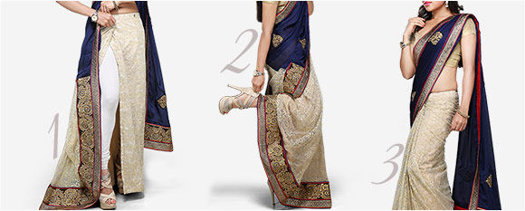 Experience the ease of pre stitch saree