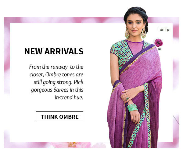 Pick beautiful Sarees in Ombre shade. Buy Now!