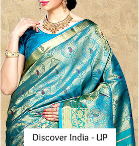 Explore the finest works from the streets of uttar pradesh. Shop zardozi, banarsi silk and ethnic jewelry