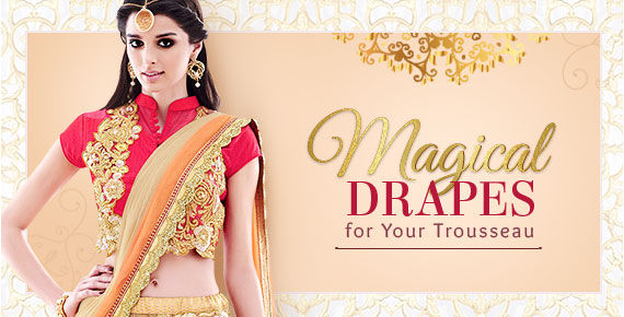Complete your Indian bridal trousseau with these essential saree styles. Dont Miss!