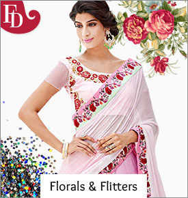 Range of Ethnic Wear in Florals and Glitters.