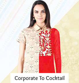 Indo Westerns for Office & Party in Cotton, Khadi, Georgette and Brocade. Captivate!