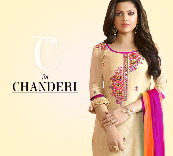 Experience chanderi in many avatars of Indian fashion. Saree, Salwar, Indowesterns & more.