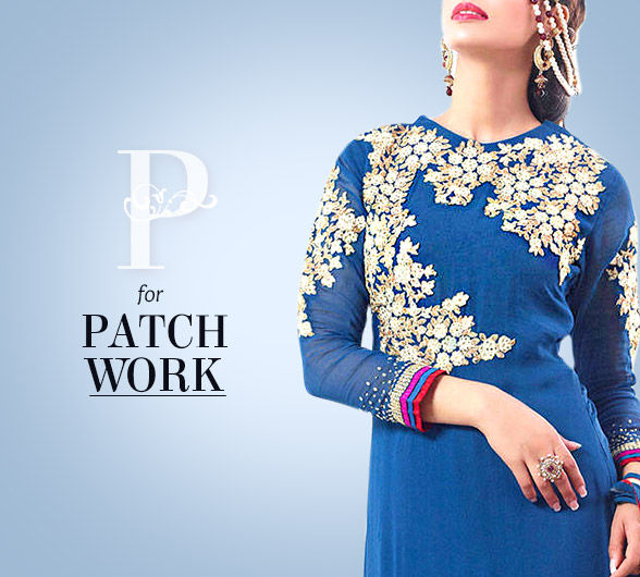 Sarees, Blouses, Salwar Kameez & Lehengas with Patchwork. Own!