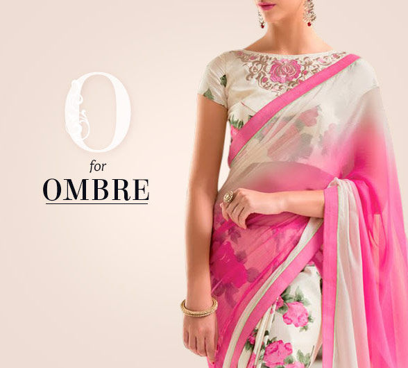Embellished Sarees, Salwar Kameez, Lehengas & Indo Westerns with Ombre Effect. Shop!