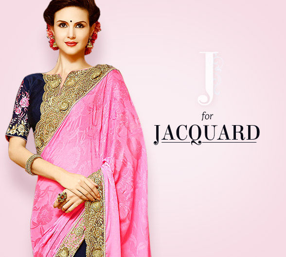 Cotton & Silk Jacquard Ensembles for a very special look & feel. Shop!