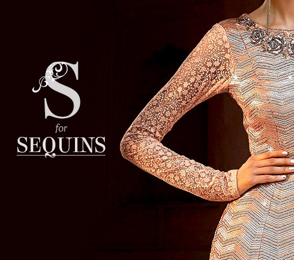 Sequined Party Wear of Sarees, Salwar Kameez & Lehengas. Shop!