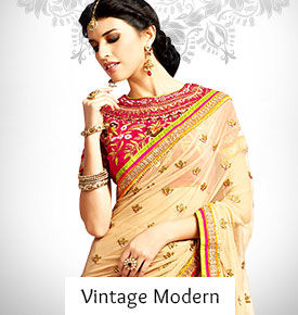 Indian Ethnic Wear in Modern Fabrics with Vintage Crafts.