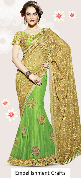 Choose from our wide range of Sarees, Salwar Suits & more with Stone work. Buy Now!