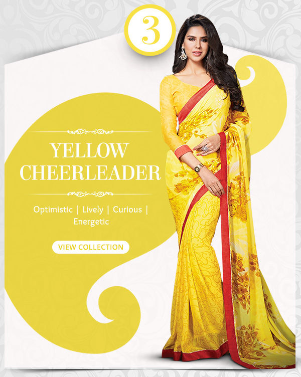 Lively range of Sarees, Salwar Kameez, Lehengas, Indo Westerns & Add-ons in shades of Yellow. Shop!