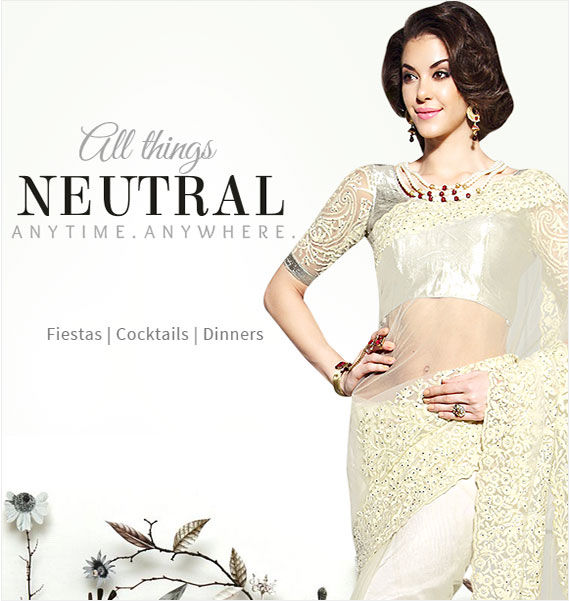 Go Formal in Indian Styles: Explore Shades of Neutral in Indian Clothing