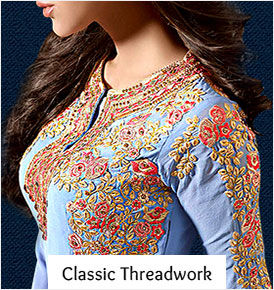 The most exquisite Indian embroideries: Thread work styles in ethnic Fashion.