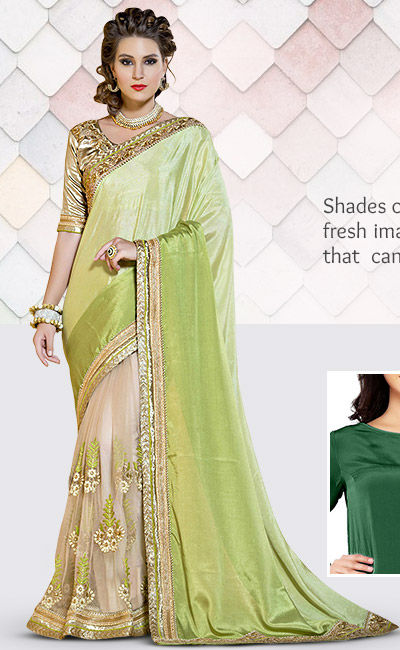 Trends of Green in Attires & Add ons. Shop!