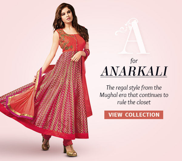 Anarkali array in prints, embroidery, layered style & more. Shop!