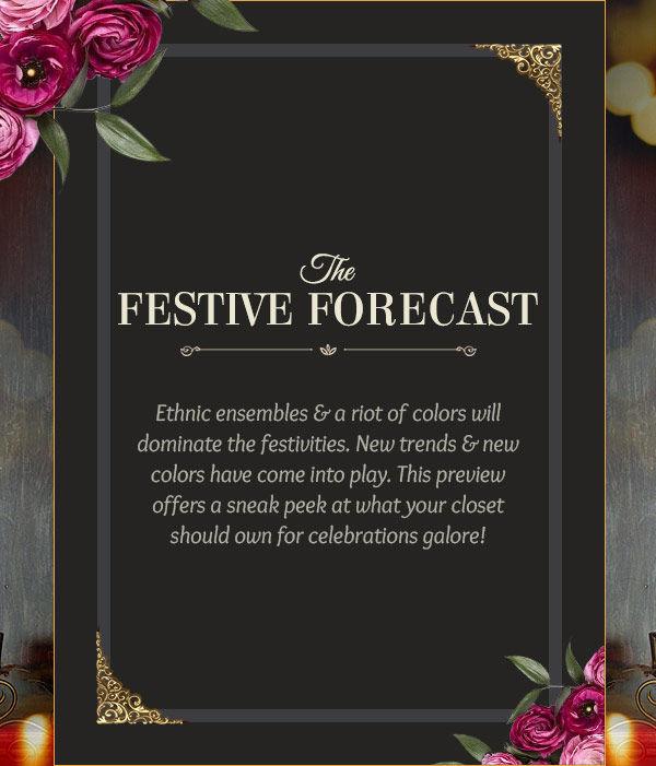 Festive Trends: Velvet Ensembles, Lehenga style Sarees, Punjabi Suits, Sunset Red Attires. Shop!
