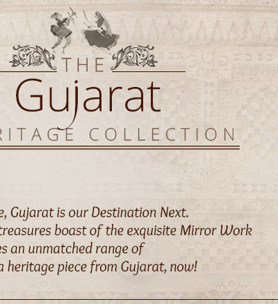 Gujarat Collection of Ensembles with Mirror work, Tie-n-Dye Print & Oxidized metal Jewelry. Splurge!