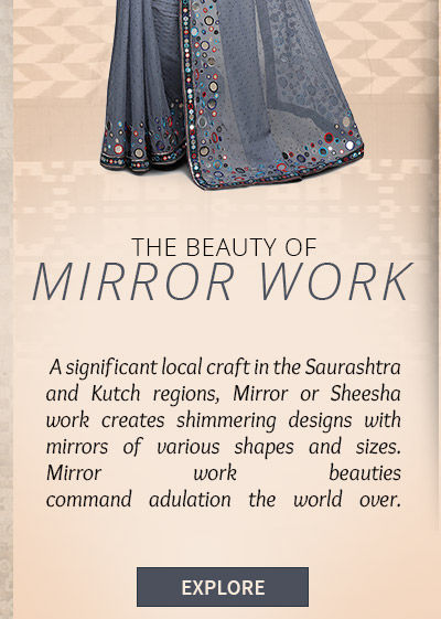 Mirror work Ensembles in bright colors from Gujarat. Possess!