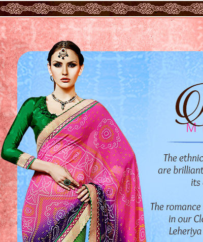Possess the prints of Sanganeri, Leheriya, Bandhej & more in the Rajasthan Collection. Shop!