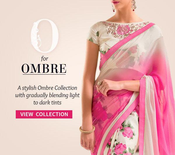 Embellished Sarees, Salwar Kameez, Lehengas & Indo Westerns with Ombre Effect. Shop!