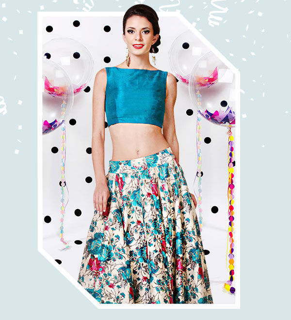 Half Half Sarees, Casual Suits, Skirts and Palazzos for Birthday Parties. Shop!