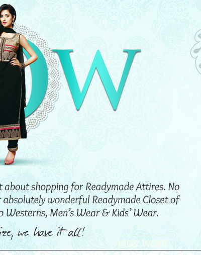 Readymade Closet of Attires for Women, Men & Kids in a range of sizes. Get yours!