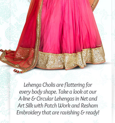 Readymade Lehenga Cholis in A-line & Circular Cuts. Shop now!