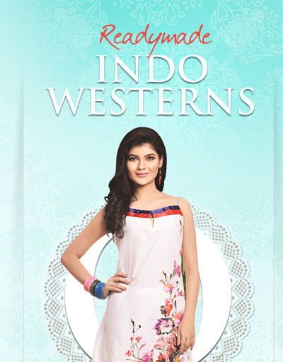 Readymade Indo Westerns in Cotton & Net with prints or work. Shop now!