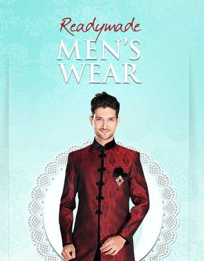 Readymade Men's Wear with Embroidered or Woven Fabrics. Shop!