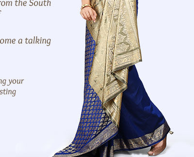 Explore the enchanting saree pallus in Woven styles. Shop!