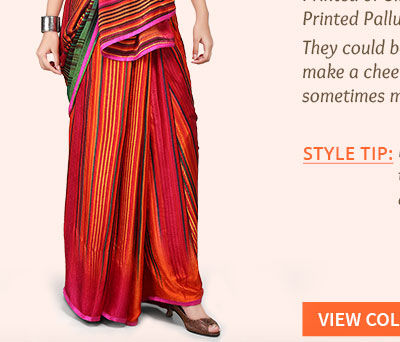 Explore the enchanting saree pallus in Printed styles. Shop!