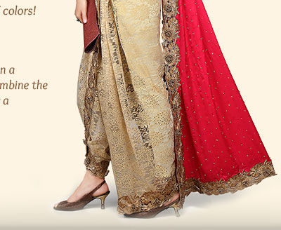 Explore the enchanting saree pallus in Embroidered styles. Shop!