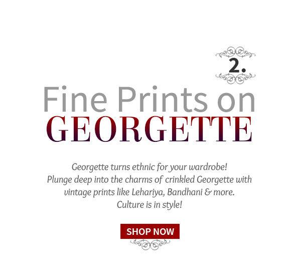 Georgette Salwar Kameez with Rjasthan's Lehariya Print. Shop!