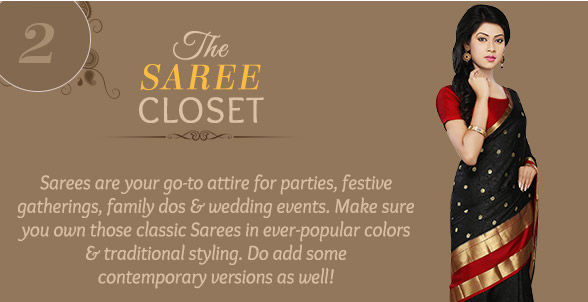 Must-have Sarees in Silks, Net, Cotton in Red & Black with borders. Shop!