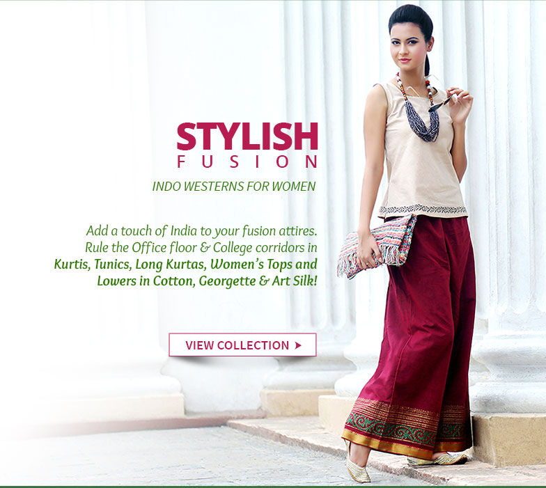 Affordable Kurtis, Tunics, Long Kurtas, Women's Tops and Lowers for youngsters. Be ethnic!