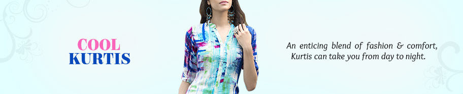 Select from our inspiring range of Kurtis in cool fabrics. Buy Now!