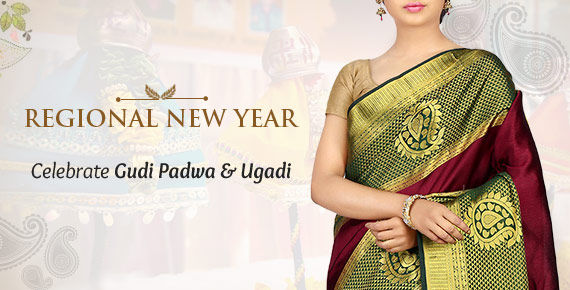 Regional New Year - Celebrate the Gudi padwa & Ugadi with ensembles from West and South India.